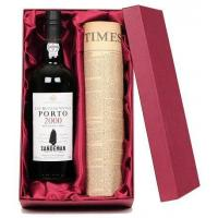 China Culture Original Newspaper & Bottle of Port on sale