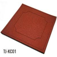 China Red 100cm*100cm Playground Rubber Floor Tiles on sale
