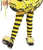 Best Matching Yellow & Black Striped Bumble Bee Girls Tights for Halloween Costume by Rubie