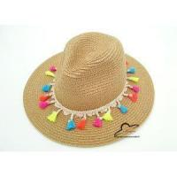 Best Fashion Candy Fringed Visor Straw Summer Beach Sun Hat Jazz Panama Hat with Fringing Women Party Cap wholesale