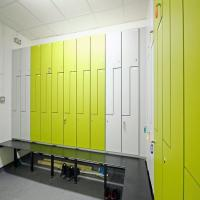 Buy cheap Antibacterial and Moisture-proof HPL Gym Changing Room Lockers from wholesalers