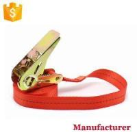 China 1 Inch Ratchet Straps Tie Down Straps with Keeper Hooks on sale