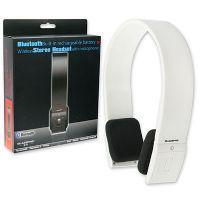 China Bluetooth Stereo Headset with Microphone-White on sale