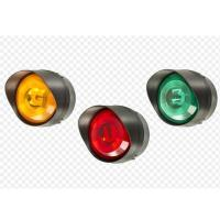 Buy cheap 200mm yellow solar panel traffic light of two units from wholesalers