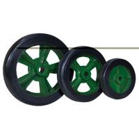 China Kaiston Caster Manufactured Heavy Duty Industrial Rubber Wheels on sale
