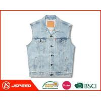 Best 2017 Mens Apparel Light Blue Men Denim Vest Wholesale wholesale