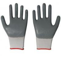 Buy cheap 13 Gauge Knitted Polyester Shell Blue Nitrile Coating on Palm Gloves from wholesalers