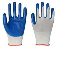 Buy cheap 13 Gauge Knitwhite Polyester Shell,blue Nitrile Coating on Palm Gloves from wholesalers