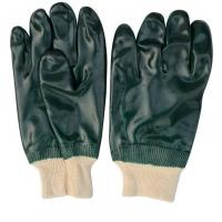 Buy cheap Green PVC Double Dipped Sandy Finished Coated Gloves with Cotton Liner from wholesalers