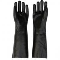 Buy cheap Black PVC Chemical Resistant Coated Gloves from wholesalers