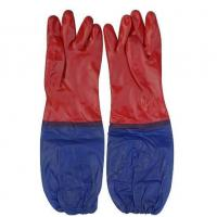 Buy cheap Red PVC Smooth Finished Gloves,with Long Sleeve 60 Cm from wholesalers
