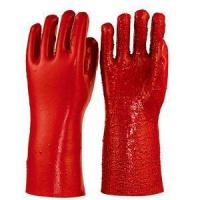 Buy cheap Red PVC Coated Working Gloves,terry in Palm ,heavy Duty 35cm from wholesalers
