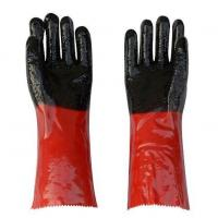 Buy cheap Double Color PVC Coated Working Gloves with PVC Chips on Palm and Fingers from wholesalers