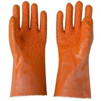 Buy cheap Black PVC Coated Working Gloves with PVC Chips on Palm and Fingers from wholesalers