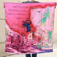 China Factory Directly Printed Square Scarves 90*90cm Silk Bandana on sale