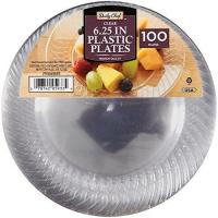 Best Daily Chef 6.25-Inch Plastic Plates, Clear, 100 Count wholesale