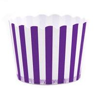Best Dress My Cupcake Striped Party Candy Cups,Set Of 24, Purple wholesale