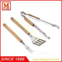 China 3-Pieces Wooden Handle BBQ Tools set on sale