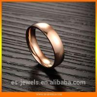 China Trendy Rose Gold Plated Titanium Ring Jewelry GJ424 on sale