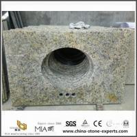Best DIY Discount Wholesale Brazil Gold Granite Bathroom Vanity Tops with Cheap Prices wholesale