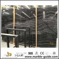 Buy cheap Chinese Black Antique Vein Wood Marble Slab For Bathroom Floor Tiles from wholesalers
