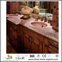 Best Prefab Natural Red Coral Marble Countertops for Kitchen and Bathroom Design wholesale