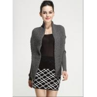 Buy cheap Fall Winter Ladies Cotton Novelty Stitch Knitted Long Sleeve Cardigan Waistcoat with Belt from wholesalers
