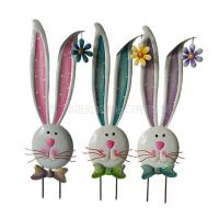 Best Bunny Metal Garden Stake Spring Easter Decoration wholesale