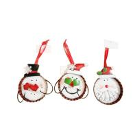 Best Metal bottle cap Christmas Ornament snowman bottle cap 3 Asst wholesale