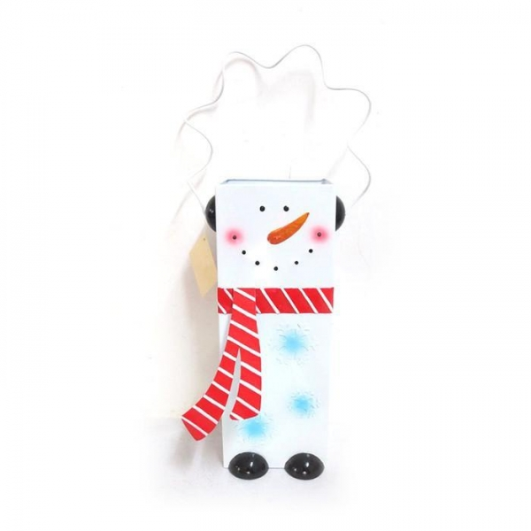 Cheap metal snowman lantern handle with indoor/ outdoor candle for sale