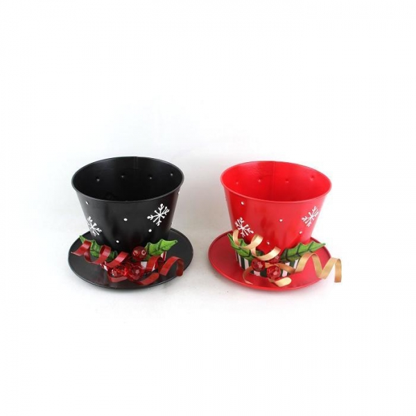 Cheap Metal Christmas Hat candle holder For Christmas Decoration for sale