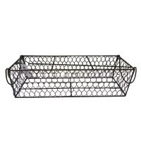 Buy cheap metal black basket shelf/ Iron Basket with handles from wholesalers