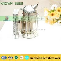 China best selling beekeeping tools manual European domed honey bee smoker for export in bulk on sale