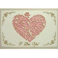 Buy cheap Holiday crafts Unique valentine card: carving heart card from wholesalers