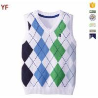 China Children's V-neck Argyle Sweater Vest on sale