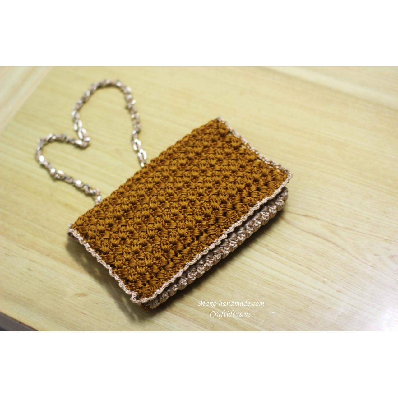 Buy cheap Handmade Crochet popcorn handbag and purse from wholesalers