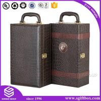 China Wine box Luxury Leather Wine Boxes with Handle PU Wine Boxes With Tools on sale