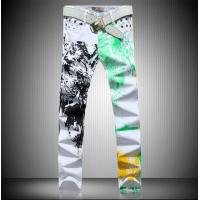 China Men White Cotton Blends Trousers Men's Clothing on sale
