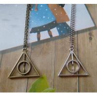 Best Gucci Harry Potter Luna And The Deathly Hallows Triangle Pendant Necklace Sweater Chain wholesale
