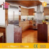 China Caring for Red Marble Kitchen Countertops Colors and Bathroom Counter Designs with Low Price on sale