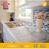 China Italian White and Gray Marble Bath Kitchen Countertop on sale