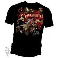 China Elite Breed Antique Fire Engine T-Shirt on sale