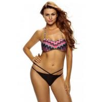 Best African Rays Bandeau Bikini Cutout Bottom Swimsuit LC41857-2 wholesale