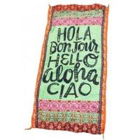 Best Hola Bonjour Hello Aloha Ciao Stylish Beach Towel LC42108-22 wholesale