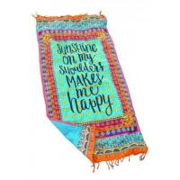 Best Beach Towel Sunshine On My Shoulders Makes Me Happy LC42113-22 wholesale