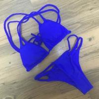 Best Royal Blue Braided Double Straps 2pcs Swimsuit LC410095-4 wholesale