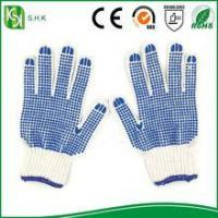 Best Blue PVC Coated String Knit working cotton Gloves wholesale