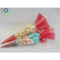 China Candy And Popcorn Cone Shape Bags 60 Micron BOPP Party Cone Cellophane Bags For Chocolate on sale