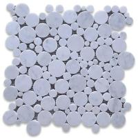 Buy cheap White Carrara Mosaic Round Shape for Background from wholesalers