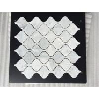 Buy cheap Wholesales Cheap Price White Carrara Diamond Mosaic Polished for Kitchen Border from wholesalers